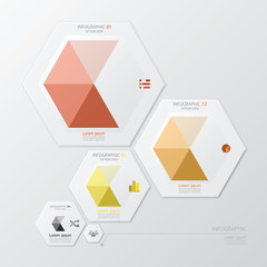Hexagon Geometric Shape Infographic Design Template