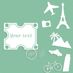 travel paper background