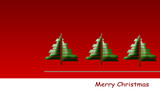 drei weihnachtsbäume  - modern