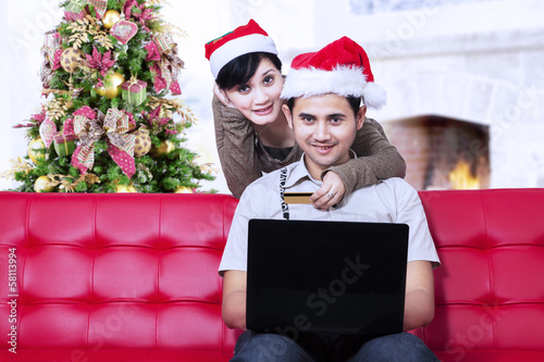 Christmas online shopping at home