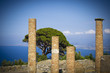 Leinwanddruck Bild - Ancient city wall of Tindarys - Sicily