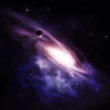 Galaxie spirale de fond