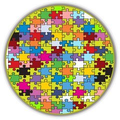 colorful round puzzle