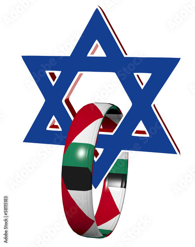 Israel and Palestine, symbol and appeal for peace