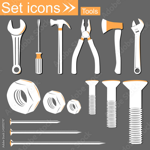 Tools, vector illustration