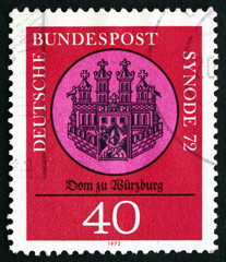 Postage stamp Germany 1972 Wurzburg Cathedral, Seal