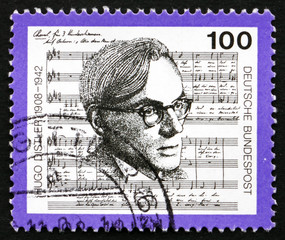 Postage stamp Germany 1992 Hugo Distler, Composer