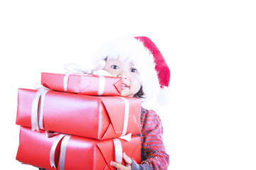 Your presents isolated in white