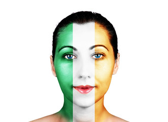 Face  with the Ireland flag