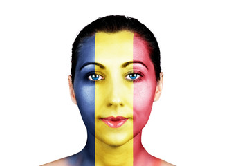 Face  with the Romania flag