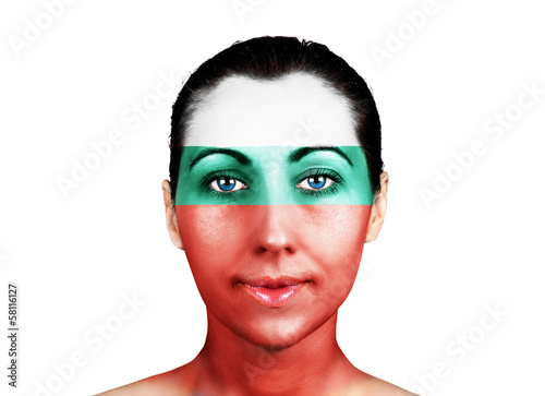 Face  with the Bulgaria flag