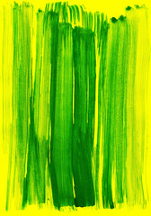 green on yellow watercolor stroke as background