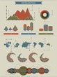 Infographics graphs and elements. Vector design.