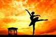Dancer at sunset