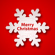 """CHRISTMAS"" Snowflake (icon happy merry greetings card)"
