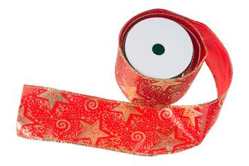 rotes Geschenkband für Weihnachten