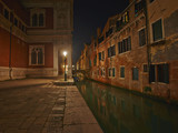Street of Venice long exposure by night