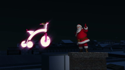 Santa dances on Chimney with yoys.