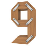 Wooden number nine