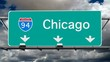 Chicago - Interstate 94 Sign Time Lapse