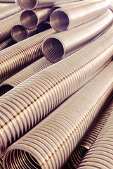 Metal hose corrugated.