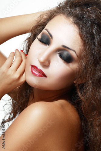 Woman with beautiful face