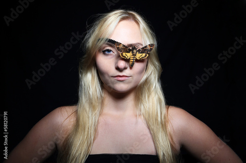 Death's-head Hawkmoth eye patch girl