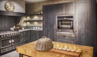 detail of wooden kitchen