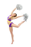 Cheerleader dancer from cheerleading team jumping and dancing