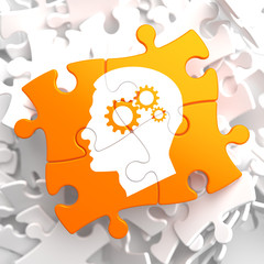 Psychological Concept on Orange Puzzle.
