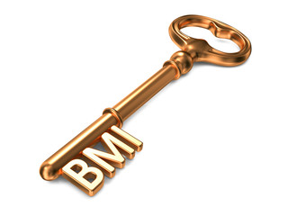 BMI - Golden Key. Health Concept.