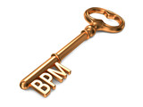 BPM - Golden Key. Business Concept.