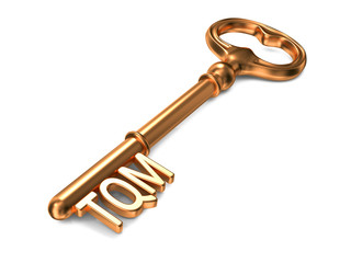 TQM - Golden Key. Business Concept.