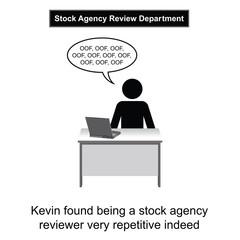 Kevin got bored at work cartoon