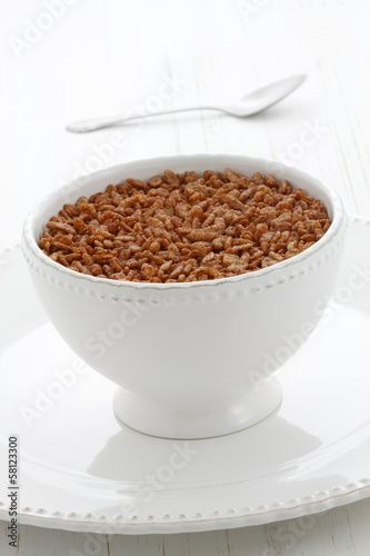 Delicious crisped rice chocolate cereal