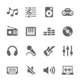 Fototapety Music icons set.