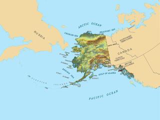 Alaska Hi Res USA counties map background