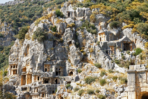 Ancient dead town in Myra Demre Turkey