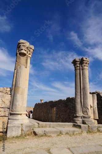 Volubilis - Roman basilica ruins in Morocco
