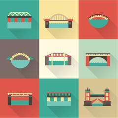 Vector bridge icon