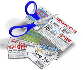 Coupon scissors cut out sale coupons
