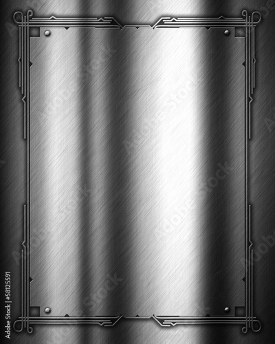 Decorative metal background