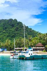 port kho phi phi island at krabi thailand