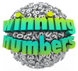 Winning Numbers Ball Lottery Jackpot Game Sweepstakes