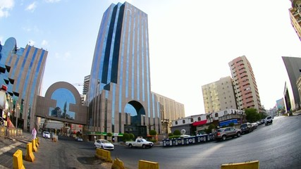 King Street in the heart of the city of Jeddah in the morning