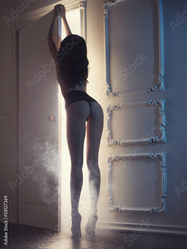 Sensual lady in classical interior © George Mayer