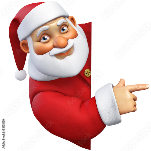 Deurstickers Sweet Monsters 3d cartoon santa
