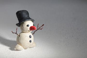 plasticine snowman