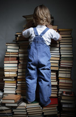 children reach for a book