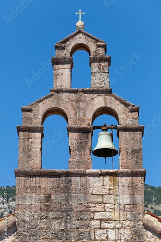 Serbian Orthodox Church bell tower in Petrovac town
